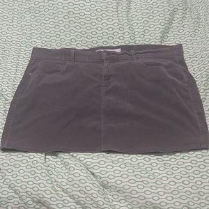 Gray cordoroy skirt